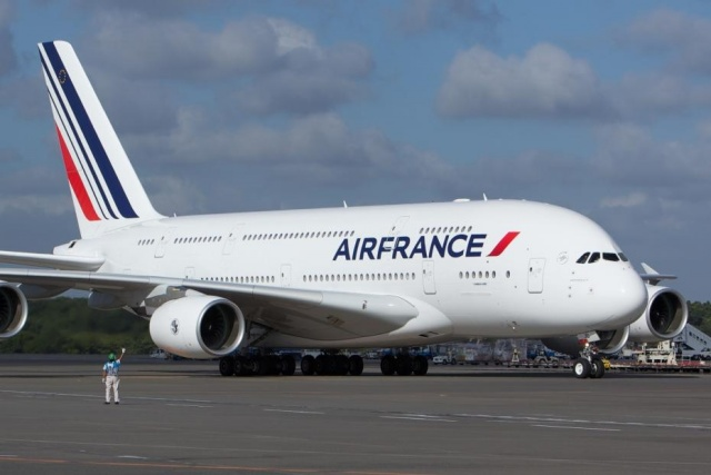 A380-as gép az Air France-nál